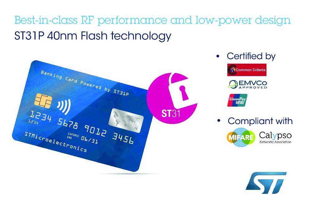 意法半导体推出双接口安全微控制器,提升非接银行卡和电子身份证的安全性和便捷性