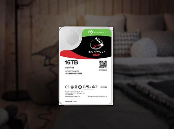希捷酷狼16TB NAS硬盘开卖:每年可写入180TB