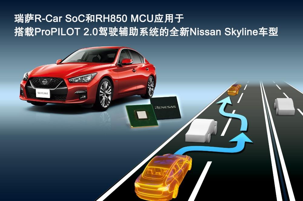 瑞萨电子创新型汽车电子芯片 适用于搭载ProPILOT 2.0驾驶辅助系统的全新Nissan Skyline车型
