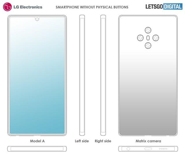 LG放出全新手机设计专利:一个按键都没有