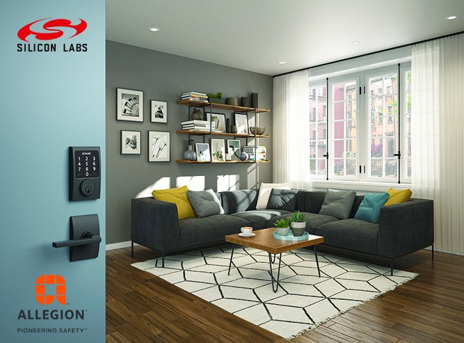 Silicon Labs與Allegion攜手為家用和商用安防設備提升物聯網功能