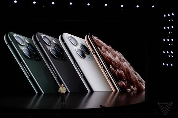 苹果发布iPhone 11 Pro/Pro Max手机:升级三摄 999美元起