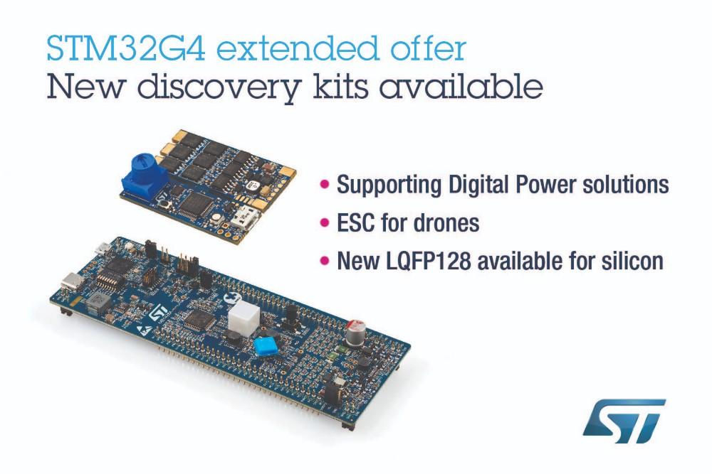 ST发布新探索套件和固件,加快STM32G4数字电源和电机控制项目开发过程