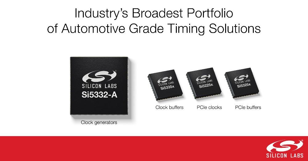 Silicon Labs推出业界最广泛的汽车级时钟解决方案系列产品