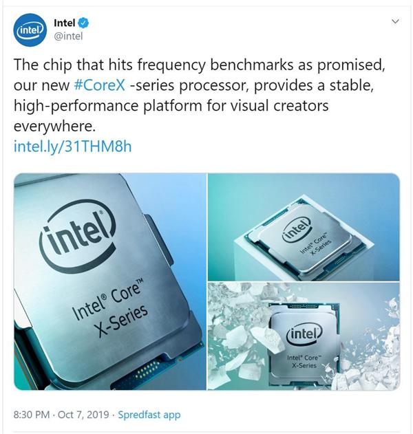 """Intel花式""""揶揄""""對手:新酷睿X可以達到標稱加速頻率"""