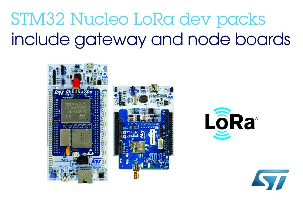 意法半導體推出經濟實惠的LoRa?開發包,利用大規模LPWAN網絡連接技術加快項目開發