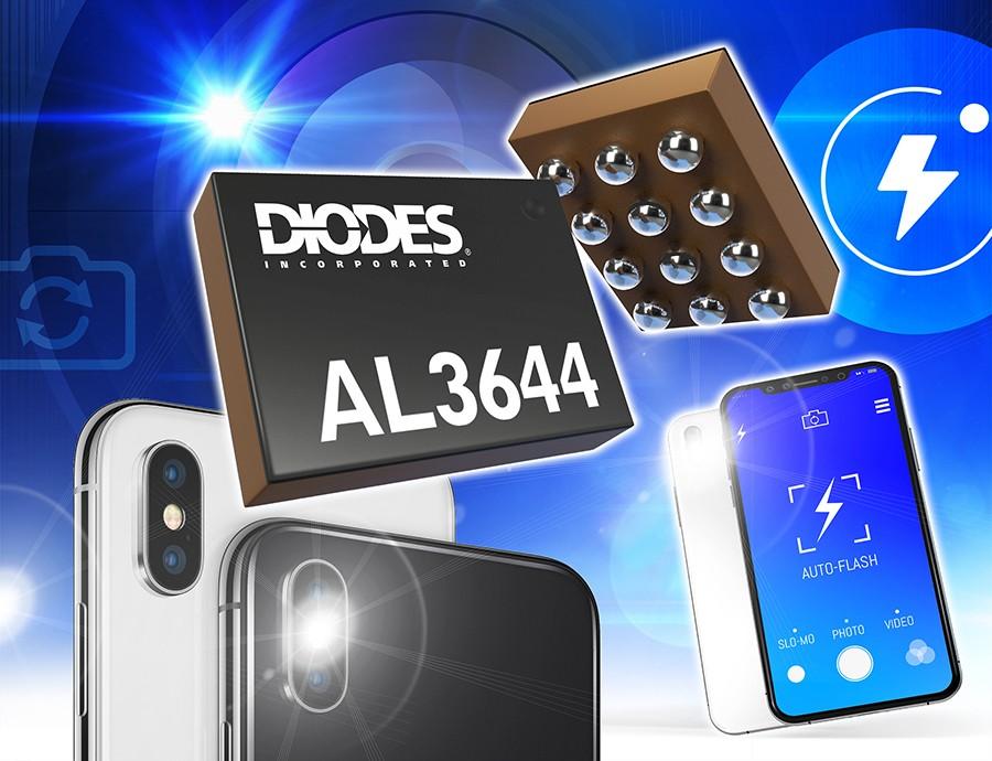 Diodes 公司的闪光灯 LED 驱动器能为双信道和四信道应用的便携设备提供稳定高电流