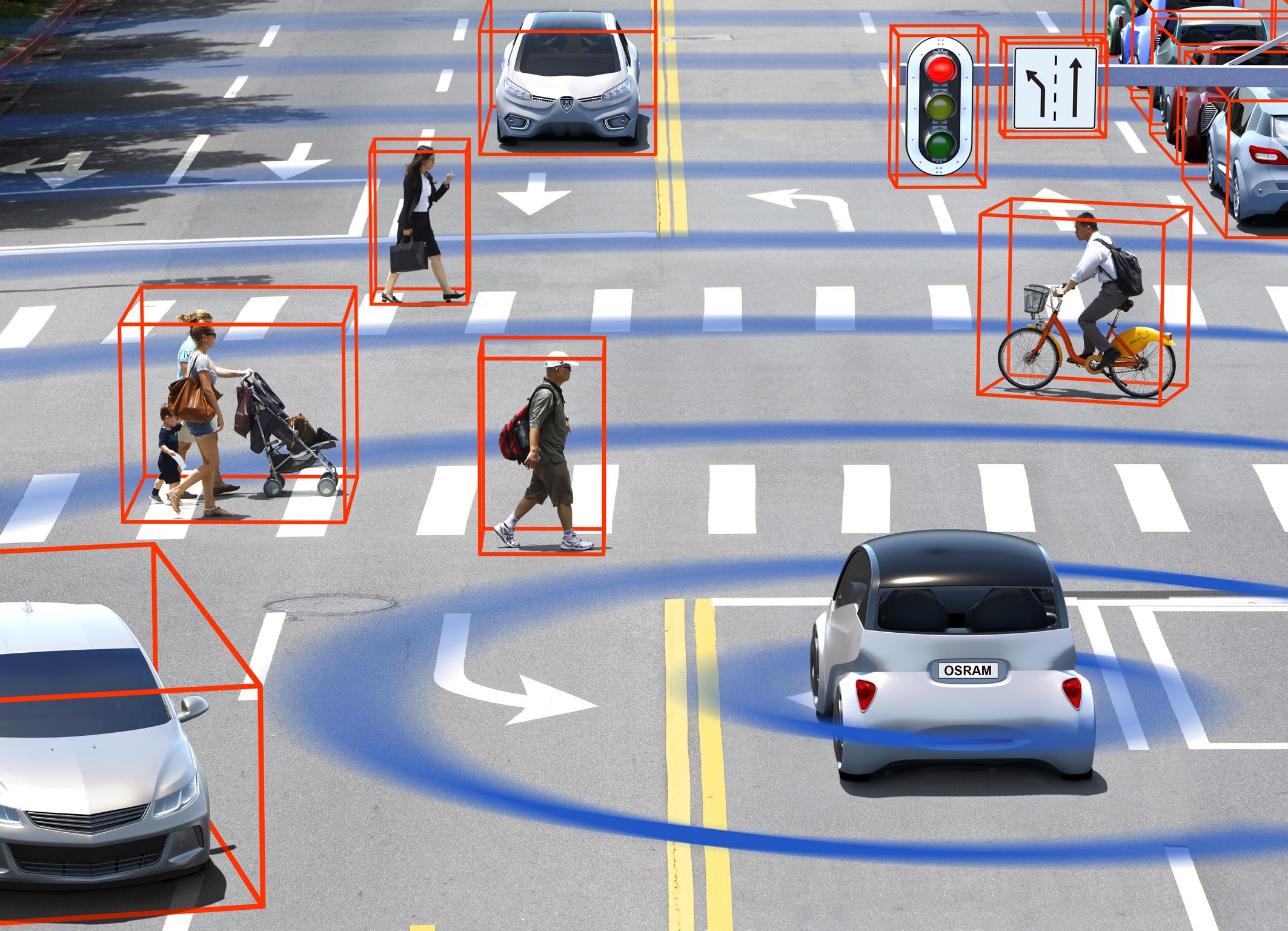 """欧司朗推出新款LiDAR激光器,为自动驾驶增添""""千里眼"""""""