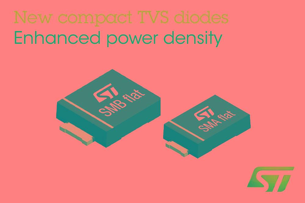 ST推出瞬压抑制二极管,更小封装带来更强的保护功能