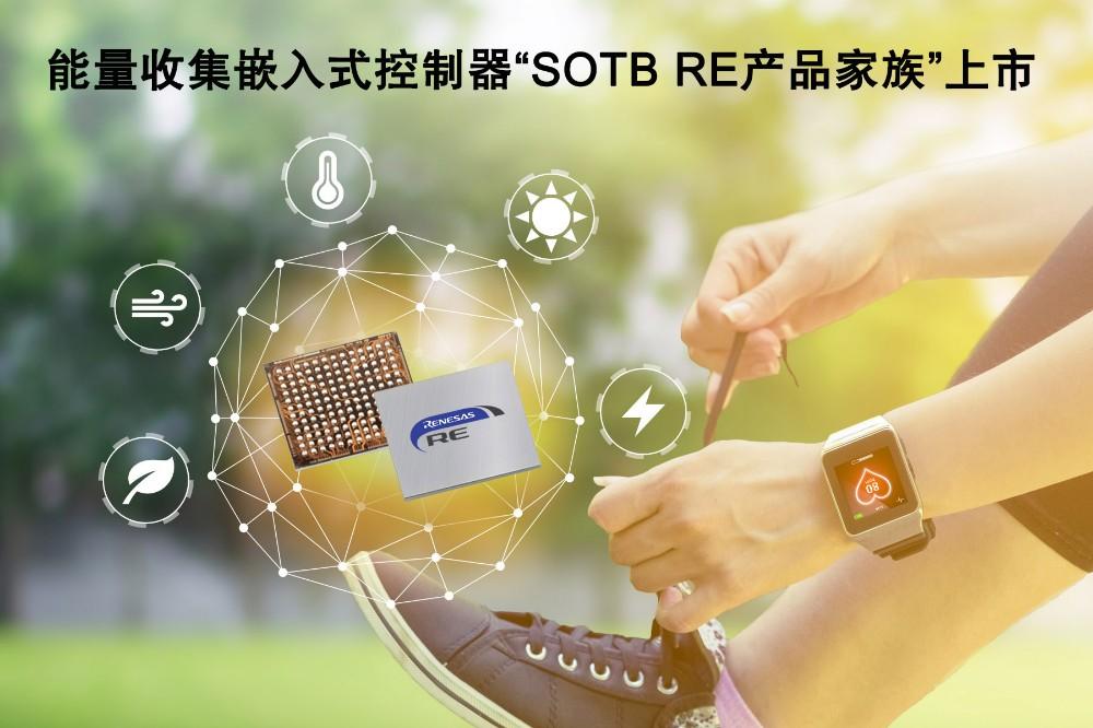 瑞萨电子整合其基于SOTB™制程工艺的能量收集嵌入式控制器产品,推出全新命名的RE产品家族