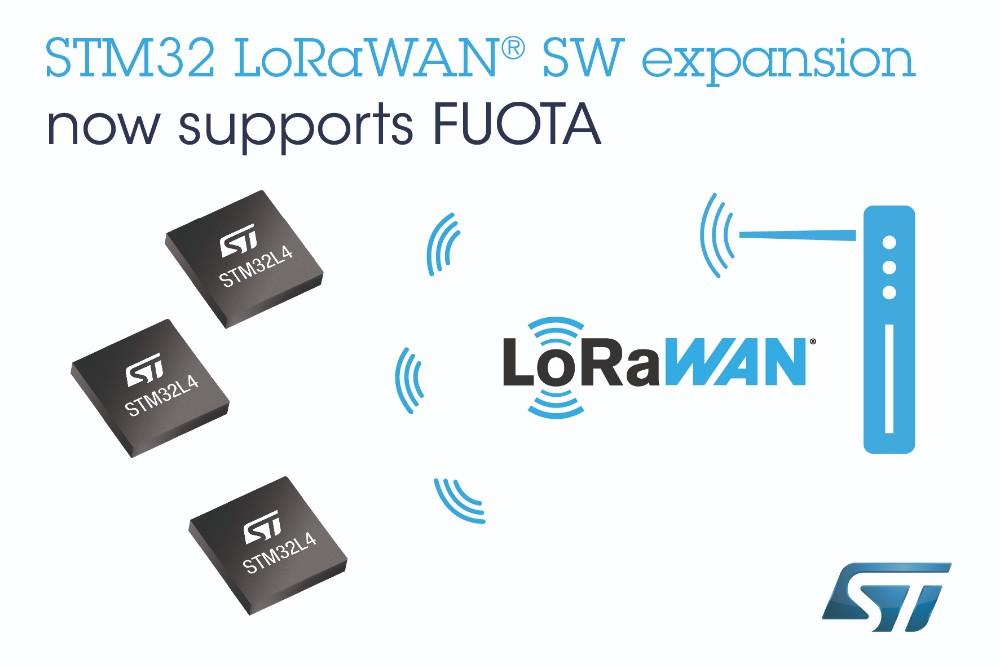 意法半导体为STM32Cube生态系统新增LoRaWAN固件无线更新支持