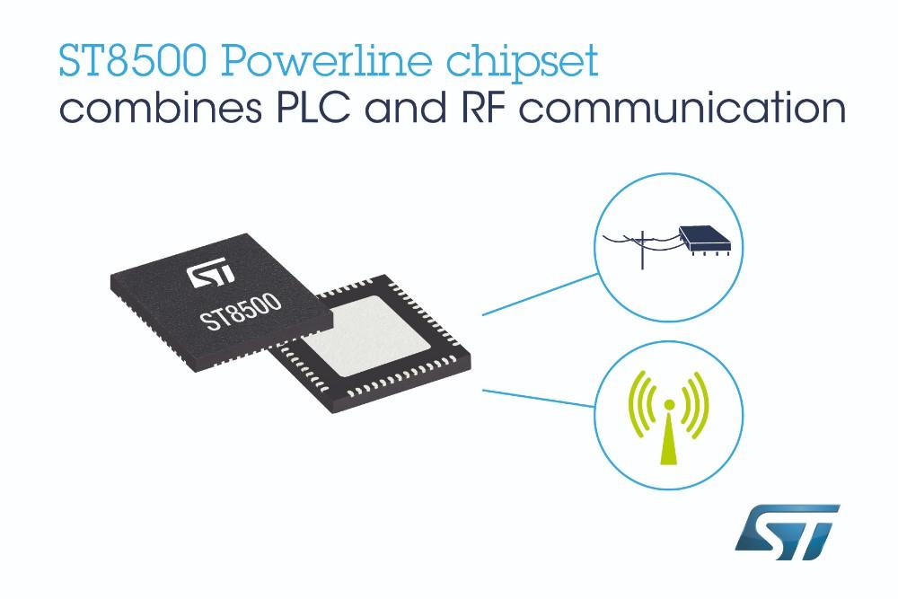 意法半导体经过市场检验的智能表计芯片组新增无线通信功能, 提高智能基础设施的灵活性和扩展性