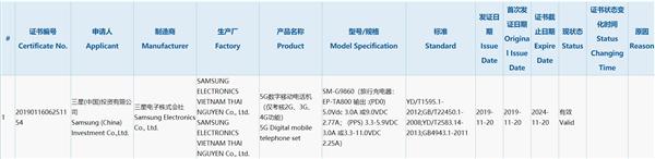 國行首款驍龍865旗艦 三星Galaxy S11入網:支持5G