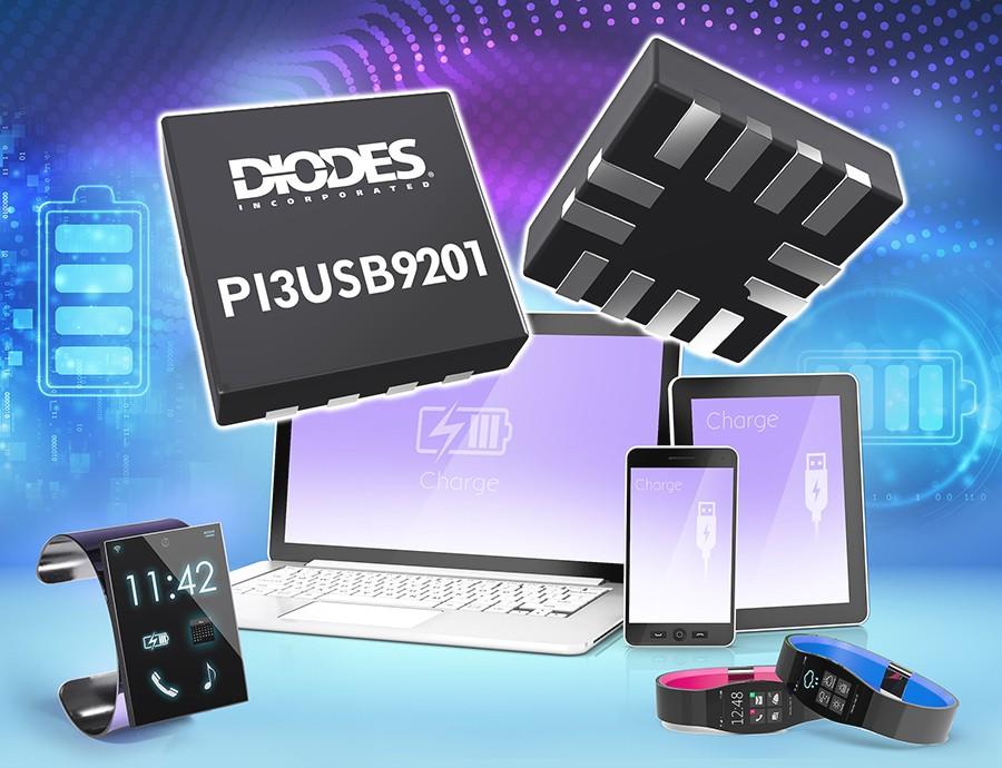 Diodes 公司推出的 USB BC 1.2 规格电池充电检测器