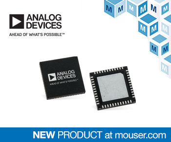 貿澤開售相位噪聲超低的Analog Devices ADF5610寬帶頻率合成器