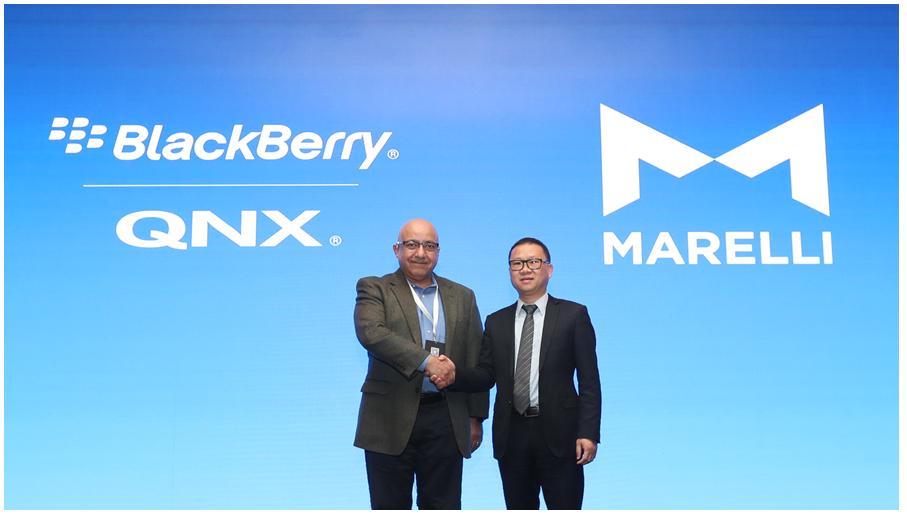 BlackBerry与马瑞利中国携手通过QNX数字驾驶舱平台为中国各大汽车品牌赋能