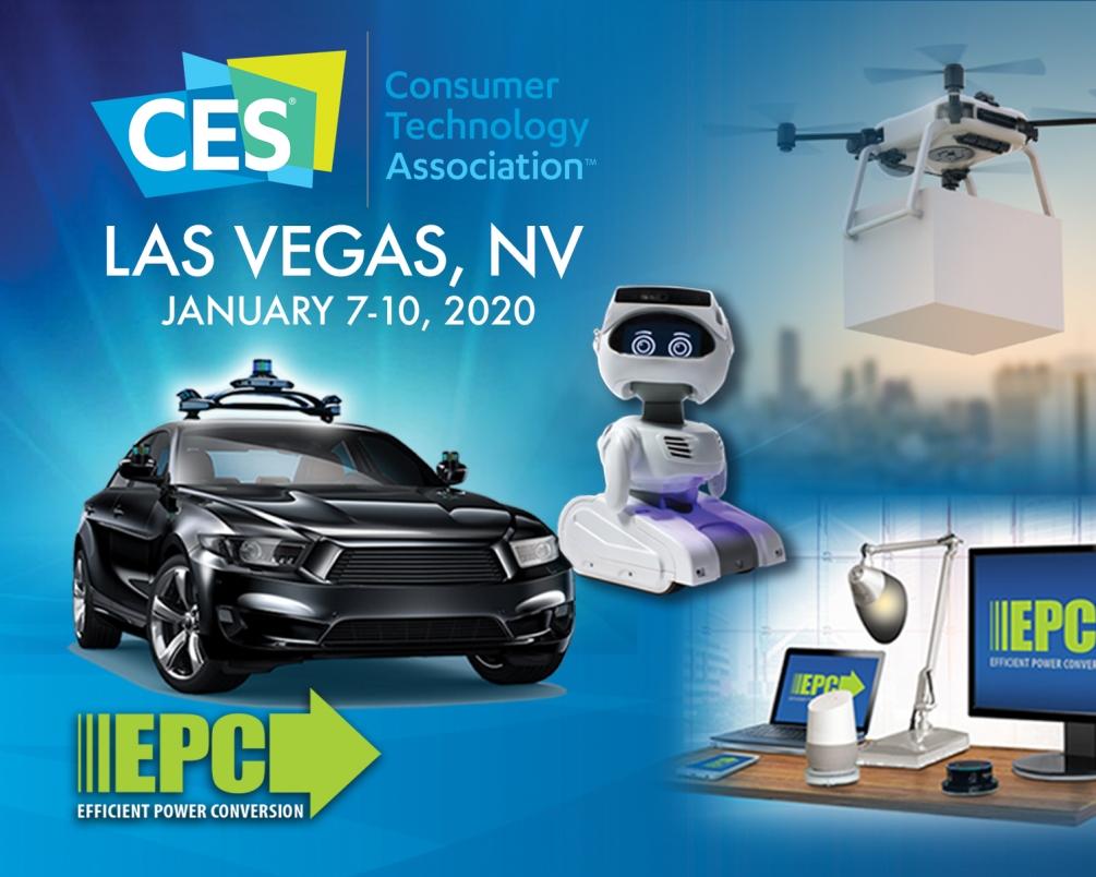 宜普电源转换公司(EPC)于CES 2020展览展示基于氮化镓技术的应用