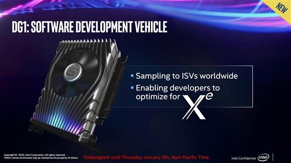 Intel Xe独立显卡首秀:小巧可爱的开发卡