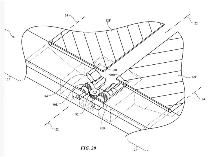 苹果可折叠设备专利曝光:带有活动挡板,可防止显示屏折痕