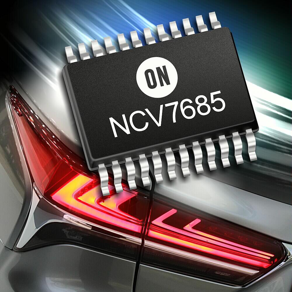 安森美半导体推出汽车LED驱动器和控制器,用于先进的汽车照明应用
