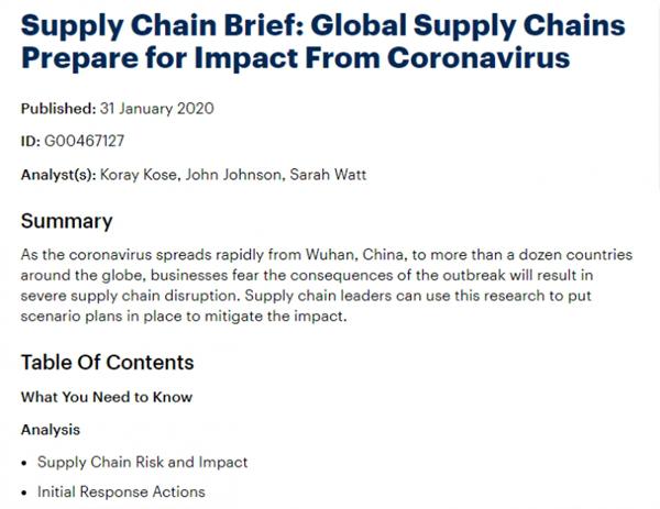 全球供应链该如何准备以应对新冠病毒疫情造成的影响
