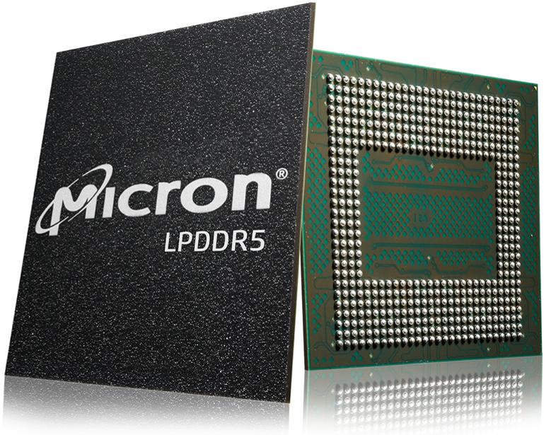 美光交付全球首款量產應用于高端智能手機市場的低功耗DDR5 DRAM 芯片