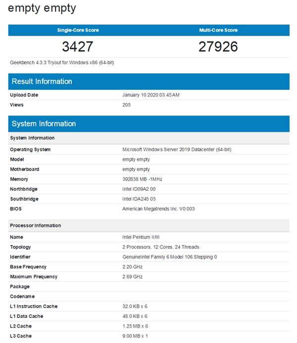 Intel 10nm服务器U首曝:多线程性能提升118%
