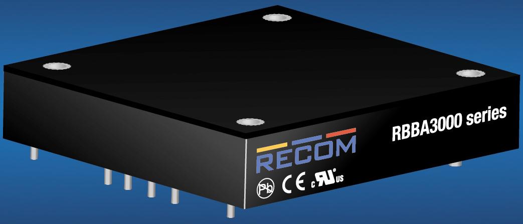 儒卓力新品:具有降压-升压拓扑的Recom 半砖型DC/DC转换器