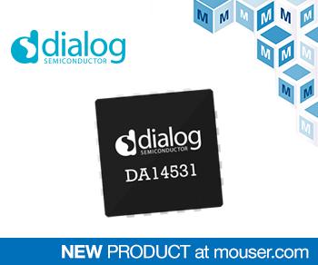 贸泽电子备货Dialog超小型DA14531 SmartBond TINY SoC 适用于一次性医疗用品