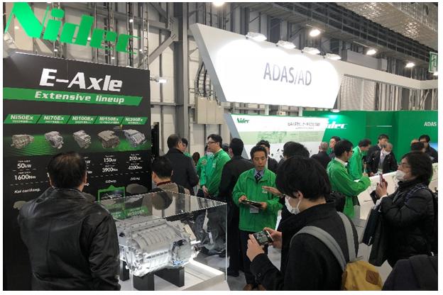 日本电产(Nidec)的电动汽车用驱动马达系统(E-Axle)系列之 200kW与50kW两款产品问世