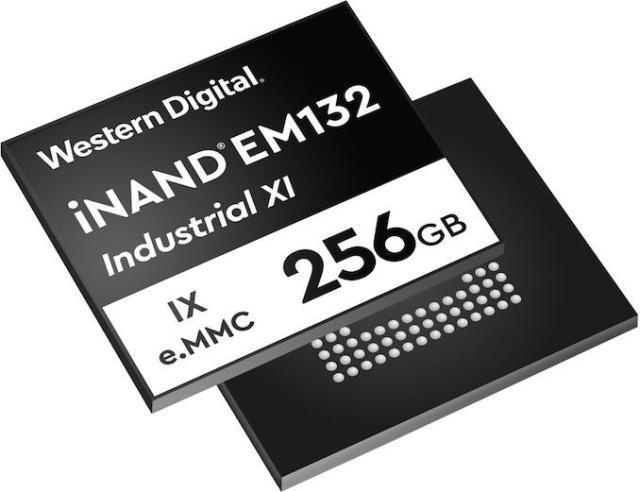 西数推出iNAND IX EM132嵌入式工业级eMMC SSD