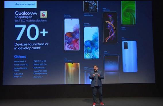高通:驍龍865 5G平臺有70多款產品 驍龍800系已有1750款