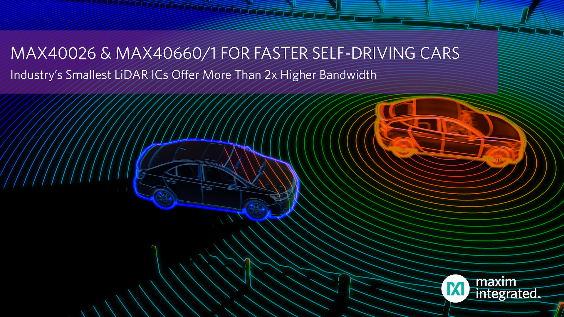 Maxim發布業界最小的LiDAR IC,帶寬提高2倍以上,加速自動駕駛汽車平臺設計