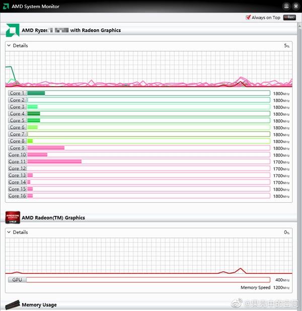 大写的YES!AMD 7nm锐龙7 4800U笔记本续航实测近14小时