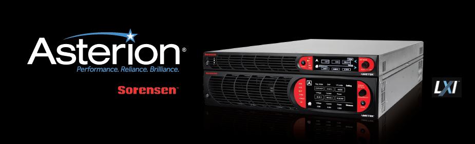 AMETEK发布Sorensen品牌Asterion系列程控直流电源新产品