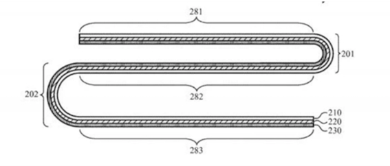 苹果新专利曝光:折叠屏iPhone具有柔性外壳