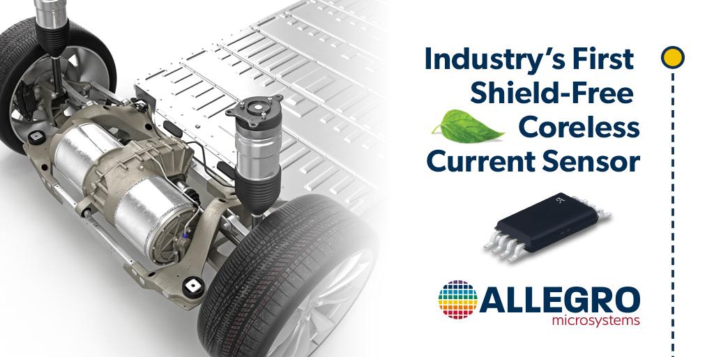 Allegro发布业界首款独立式无磁芯电流传感器,可降低电动汽车逆变器的尺寸、重量和系统成本