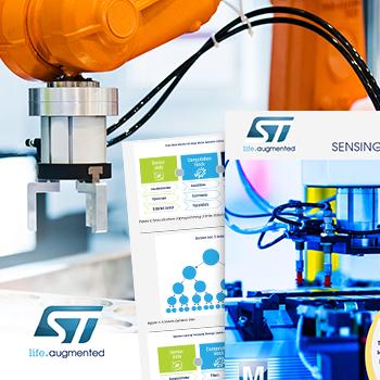 贸泽电子携手ST推出全新电子书带你探索工业传感解决方案