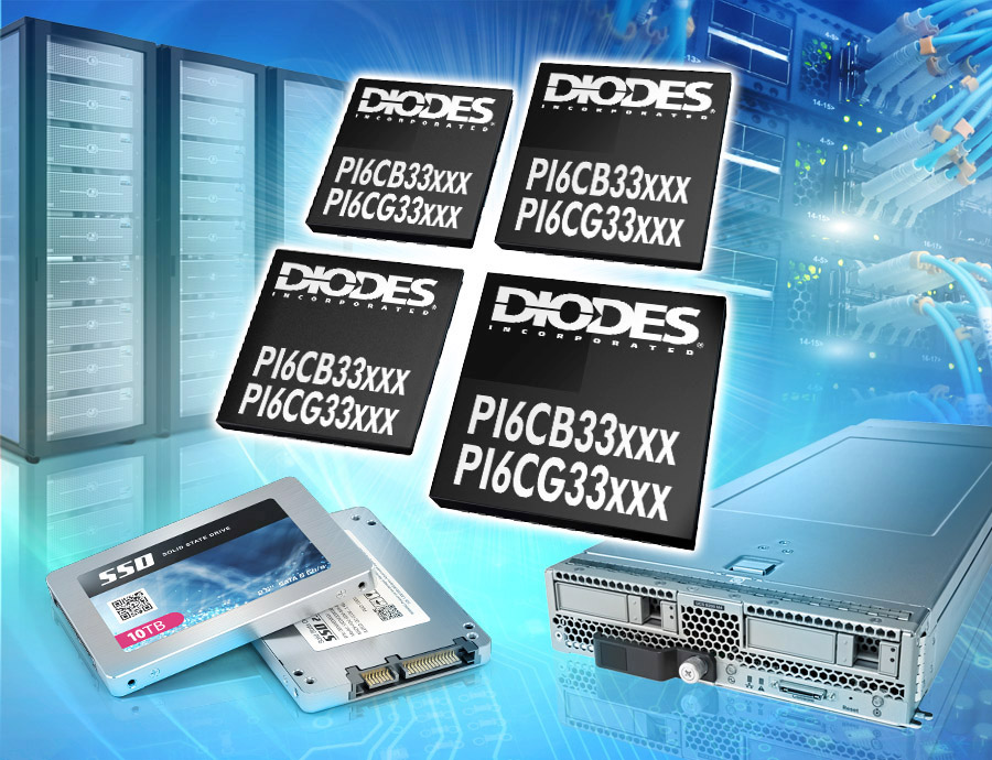 Diodes 公司推出的 PCIe 5.0 時鐘發生器與緩沖器為服務器、IPC、網絡、數據中心等應用提供前向兼容性