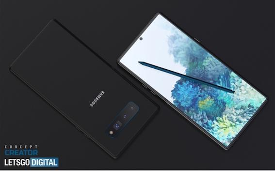 三星Galaxy Note 20全方位渲染图曝光:果然还是那熟悉的味道
