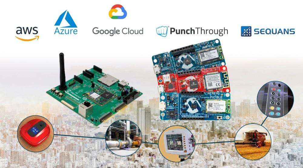 Microchip推出一系列用于快速原型设计的嵌入式物联网解决方案,为所有MCU和MPU提供云连接功能