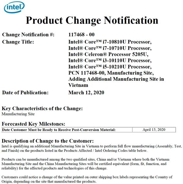Intel自曝i7-10810U:轻薄本6核新旗舰、越南产
