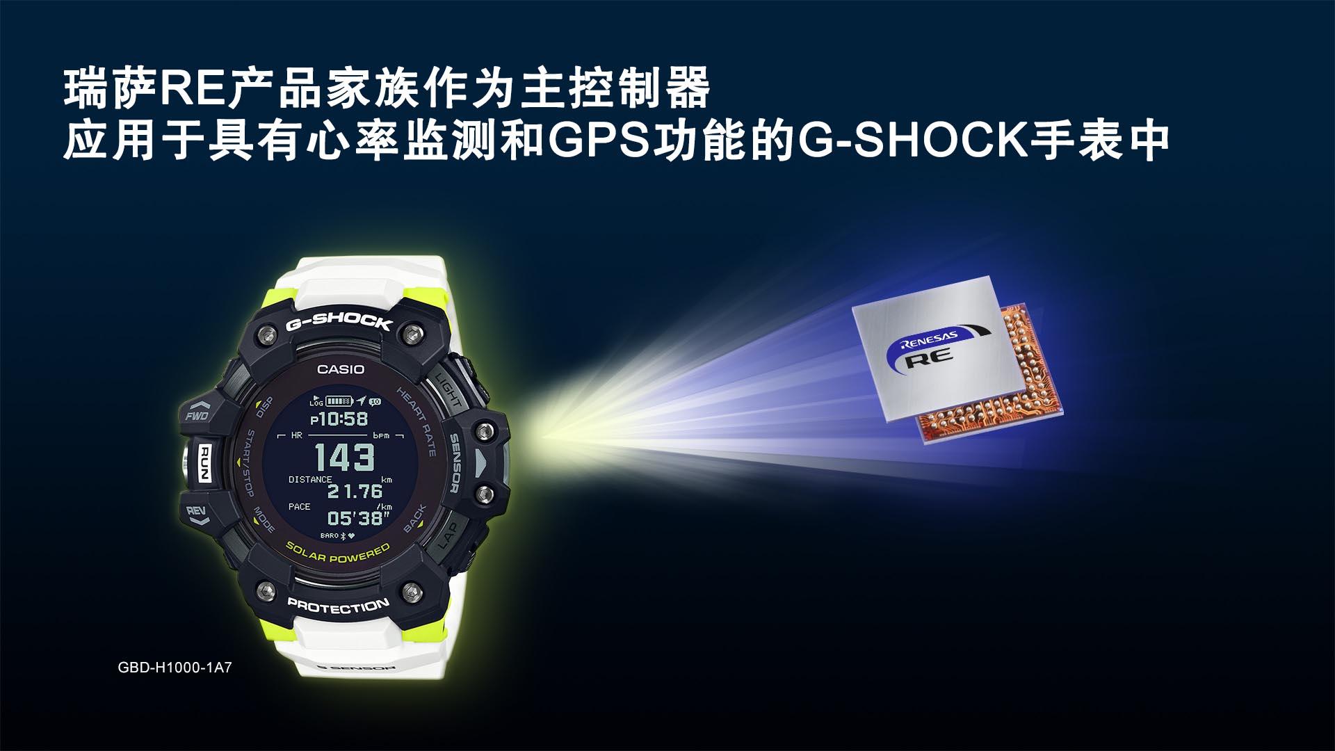 瑞萨RE产品家族作为主控制器 应用于具有心率监测和GPS功能的G-SHOCK手表中