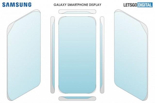 三星新外观专利曝光:四曲面屏设计