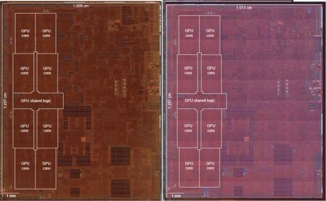 苹果A12Z和A12X处理器裸片对比:两者本质完全相同