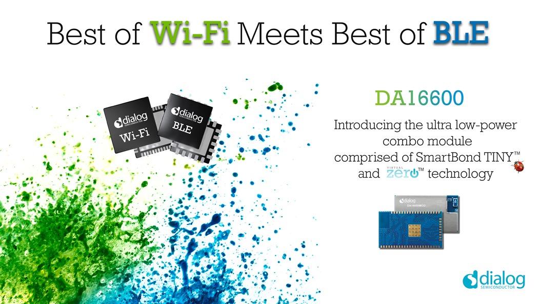 Dialog半导体推出首款Wi-Fi + BLE组合�?�,引领新一波IoT连接技术