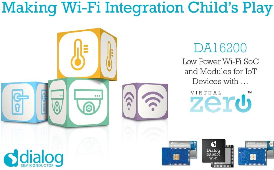 Dialog半导体推出最新超低功耗Wi-Fi SoC,扩展IoT连接产品组合