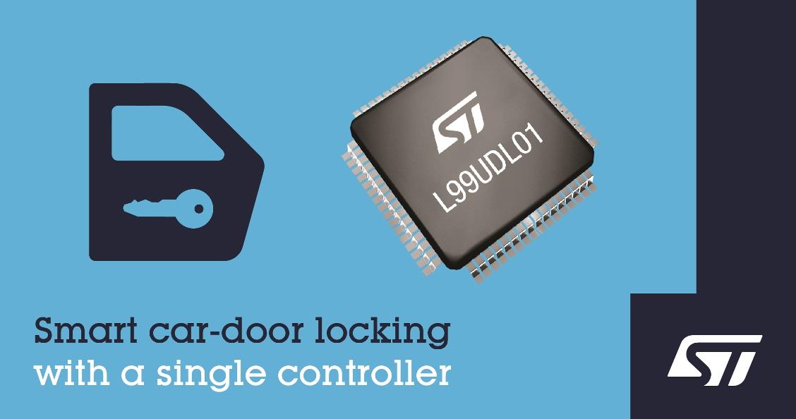 意法半导体推出高集成度通用型车门锁控制器
