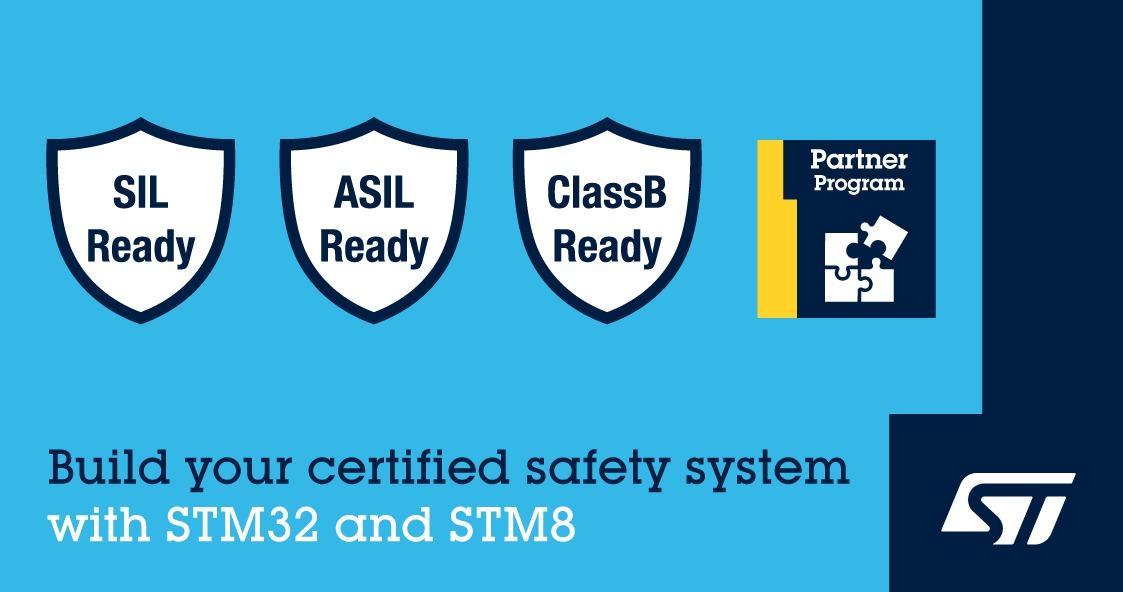 意法半导体新推出STM32和STM8认证软件包,可助力设备达到功能安全标准