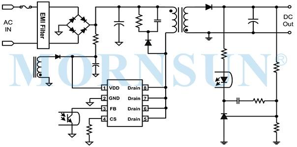 超低静态功耗、内置高压MOS电流型副边反馈控制芯片 — SCM1733ASA